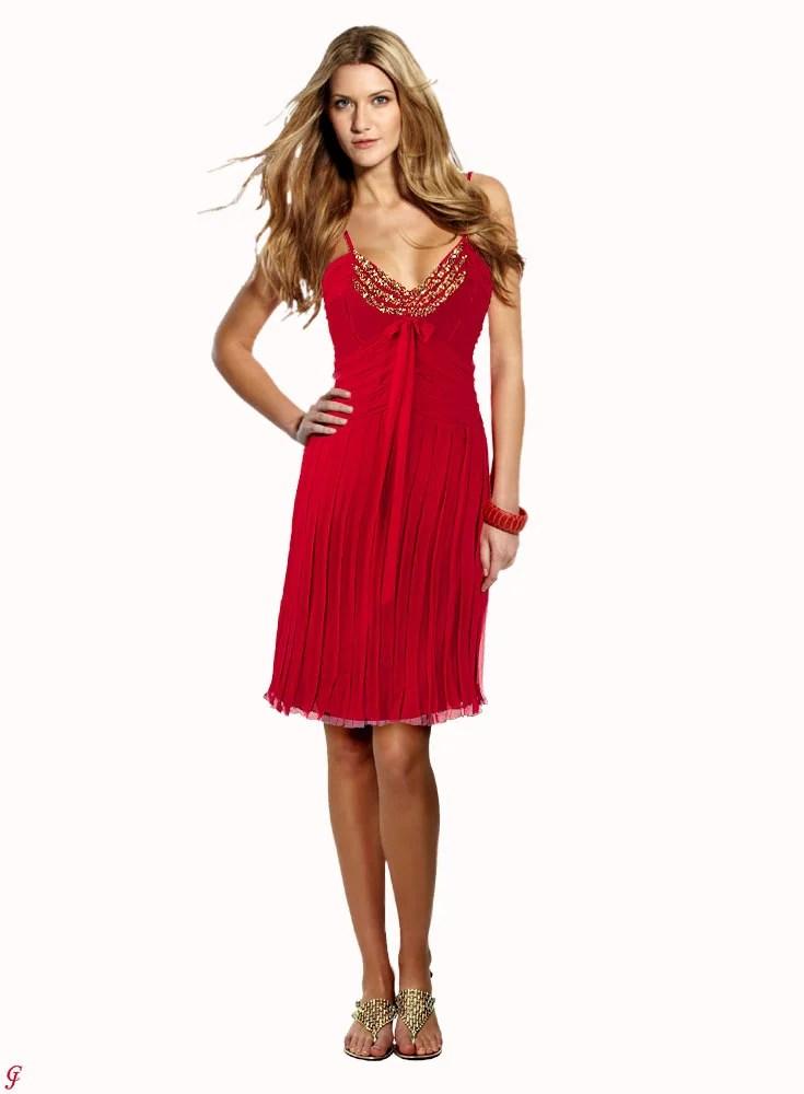 407.471 Seiden-Abendkleid rot von BELOUNGED Grösse 36