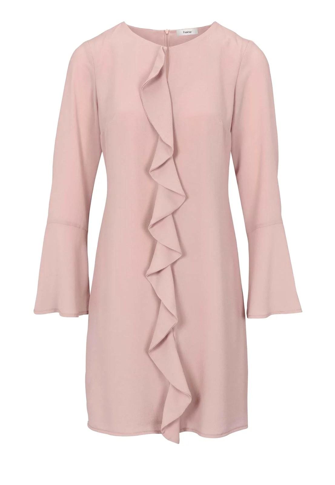 623.930 HEINE Damen Designer-Etuikleid m. Volants Rosé