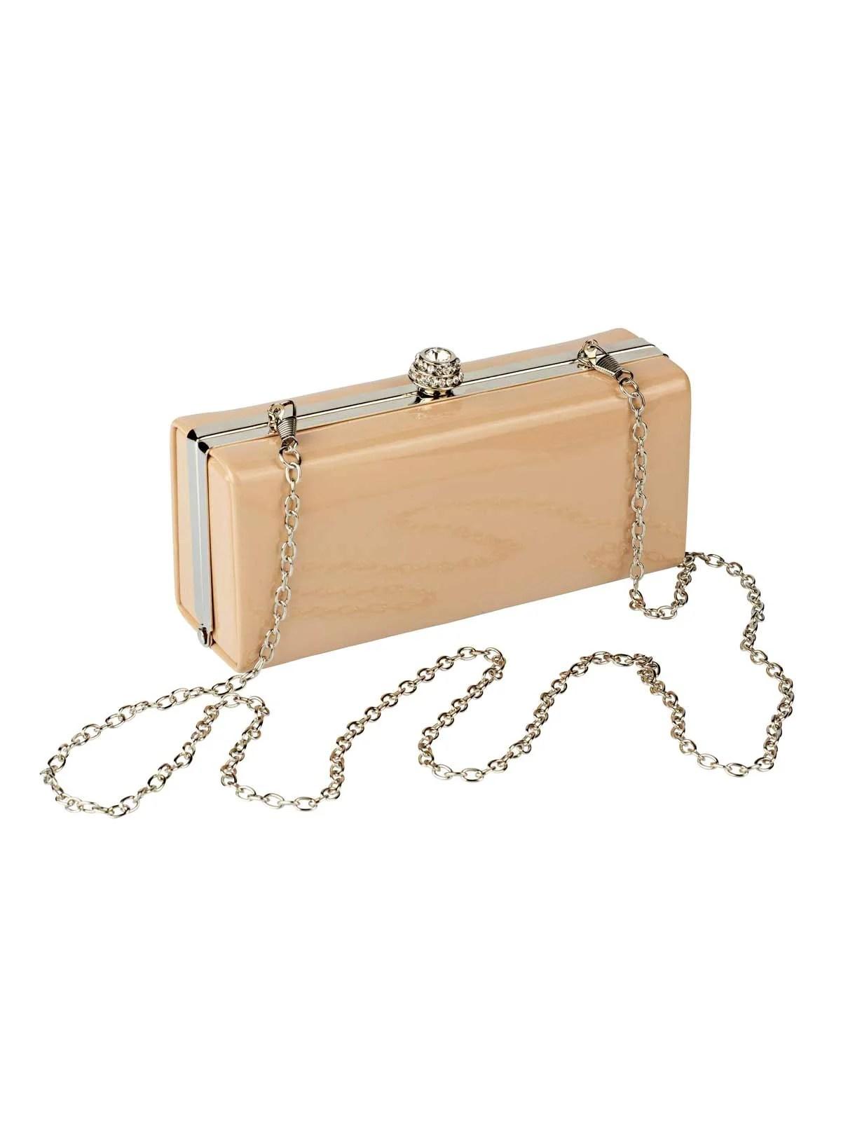 Welche Tasche zum Abendkleid? Missforty 651.025 HEINE Damen Designer-Lack-Clutch Puder