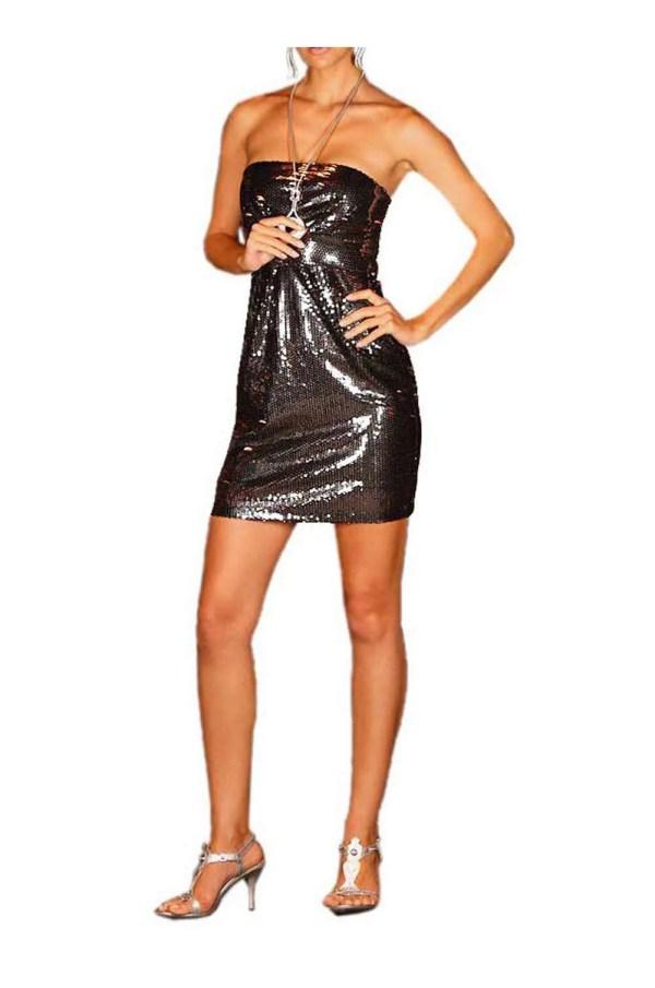 778.276 Pailletten-Bustierkleid, grau-schwarz von Laura Scott Evening Grösse 38