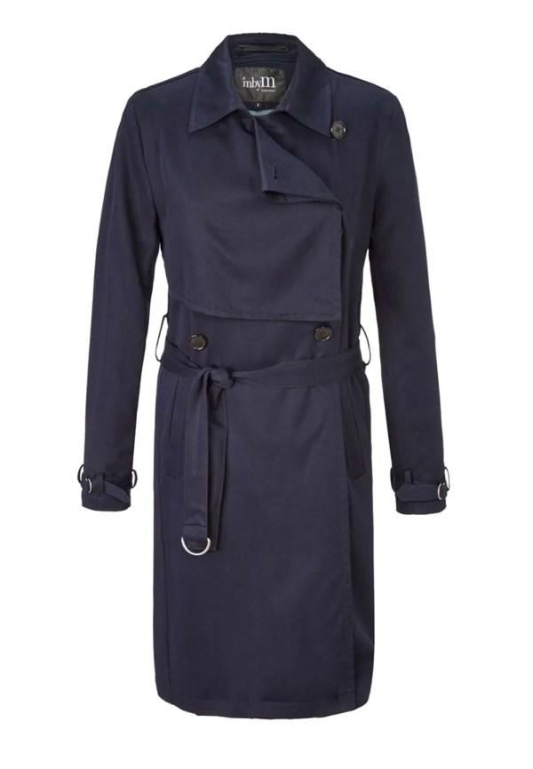 Damen Trenchcoat in dunkelblau | Missforty