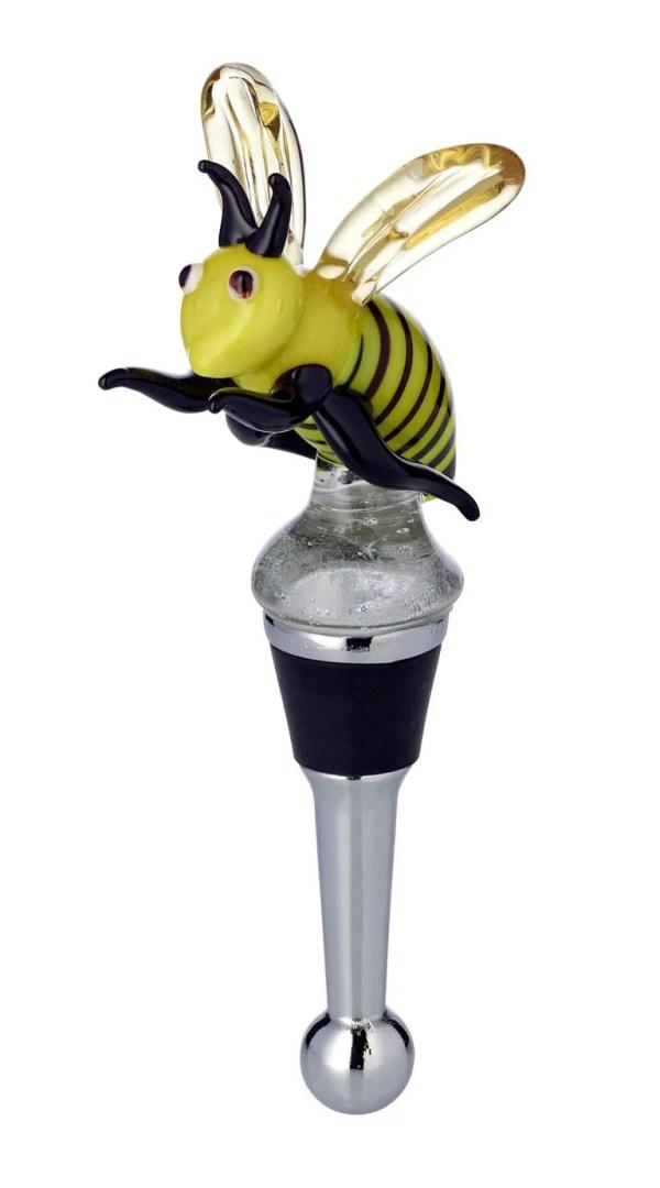 8512 Edzard Flaschenverschluss Weinverschluss Glas Biene Sektverschluss Handarbeit