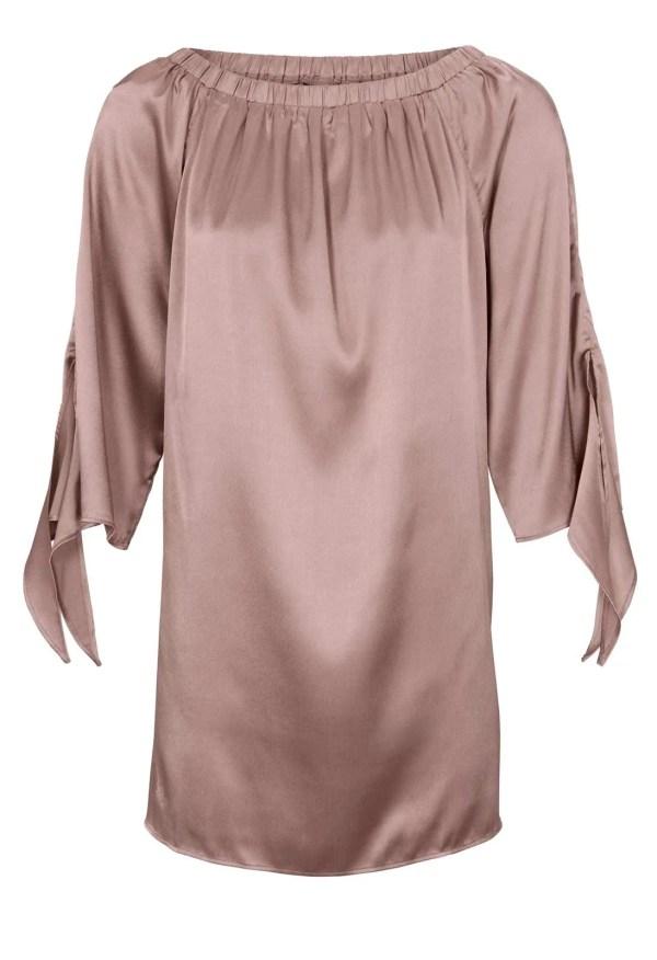 891.068 HEINE Damen Designer-Satin-Carmenbluse Rosé