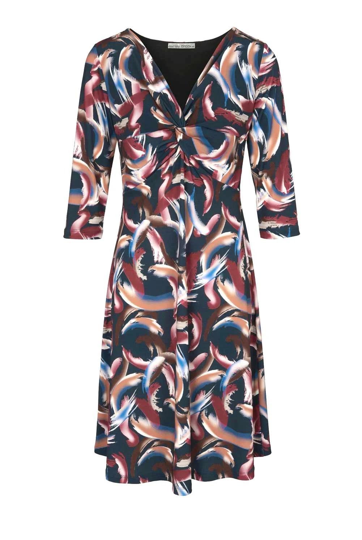 930.801 HEINE Damen Designer-Jerseykleid Bunt