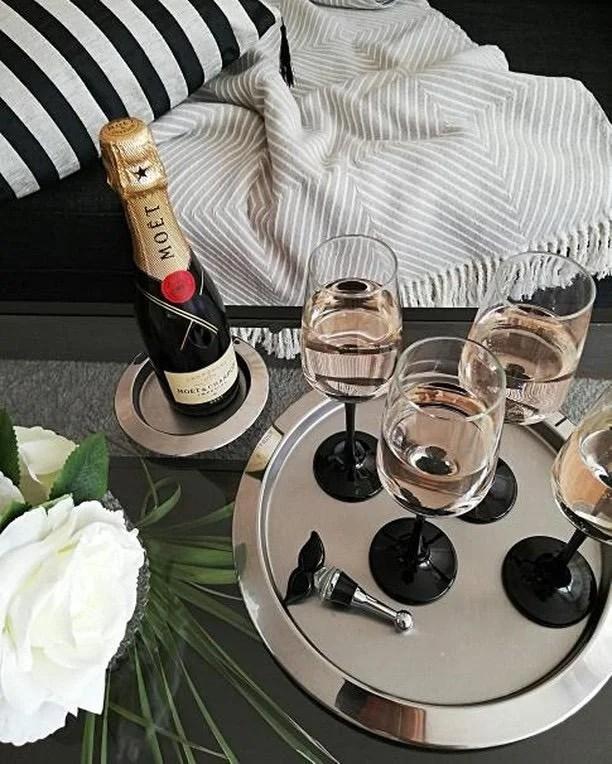 8496 Flaschenverschluss Moustache für Champagner, Wein und Sekt, Höhe 10 cm, Muranoglas-Art, Handarb