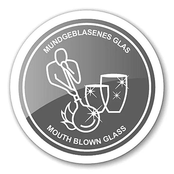 8046 6er Set Kristallgläser Dio, grün, handgeschliffenes Glas