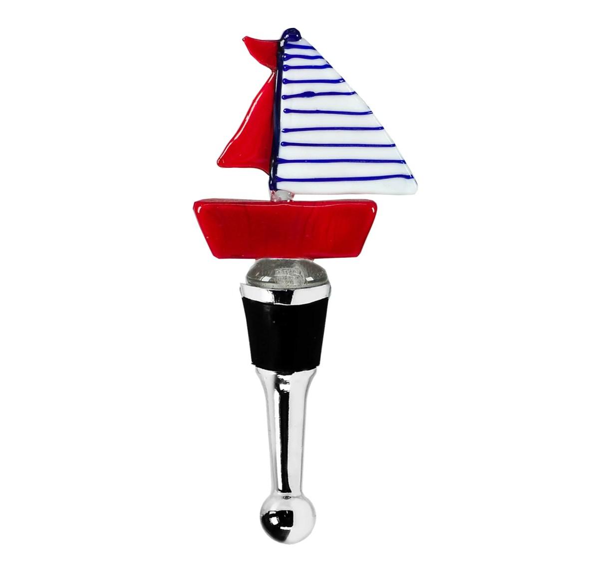 8519 Edzard Flaschenverschluss Weinverschluss Segel Boot Glas Frosch Sektverschluss