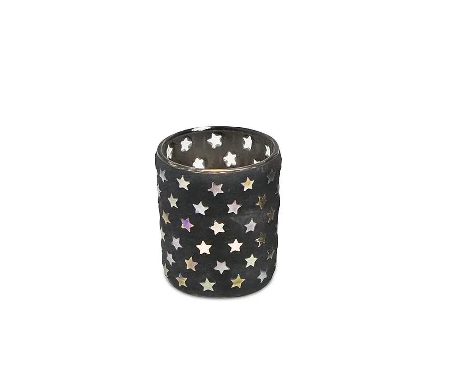 0509 Teelichtleuchter Sterne H 8 cm