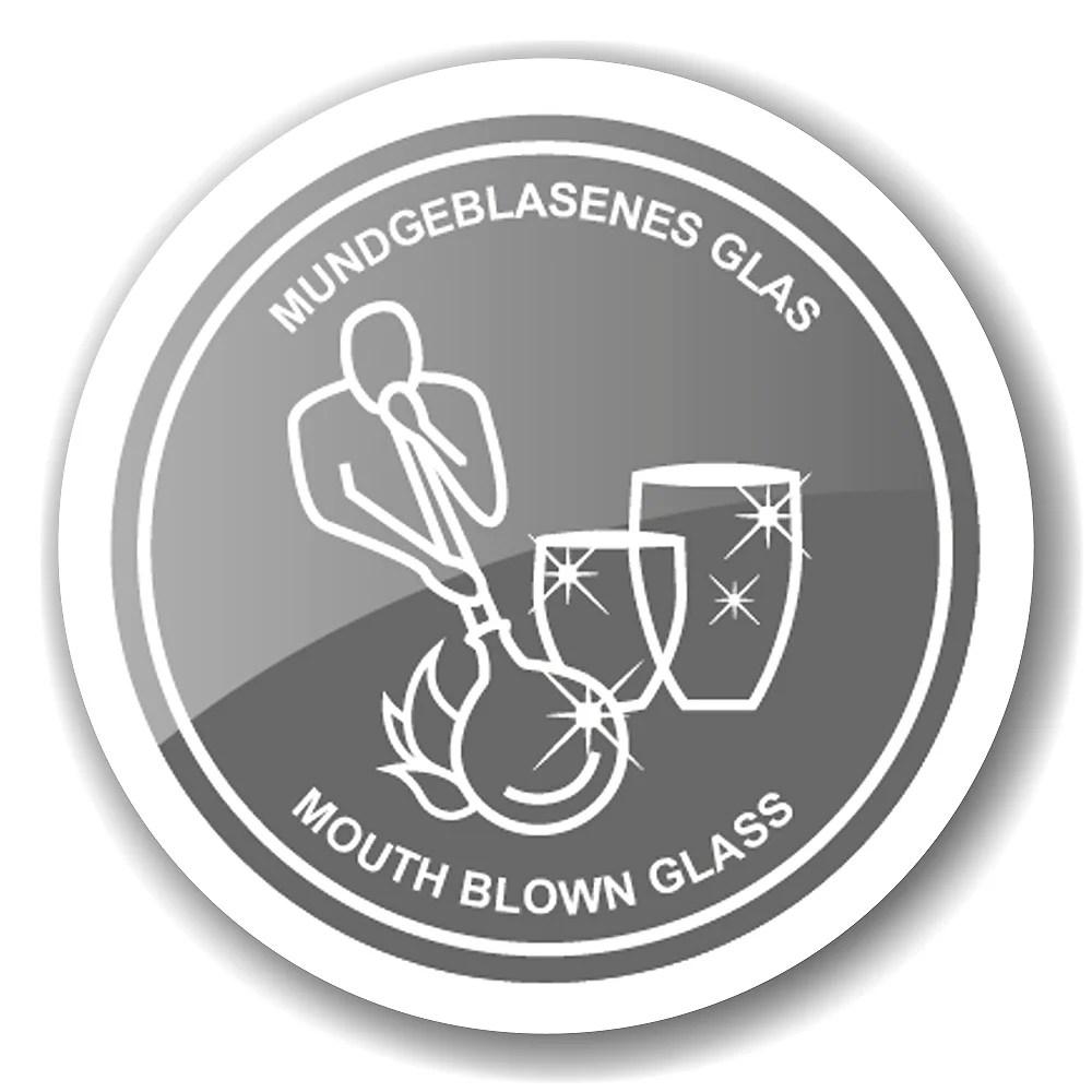 3303 Edzard Kerzen Windlicht Kerzenhalter Molly Kristall Glas Platinrand Silber 25 cm
