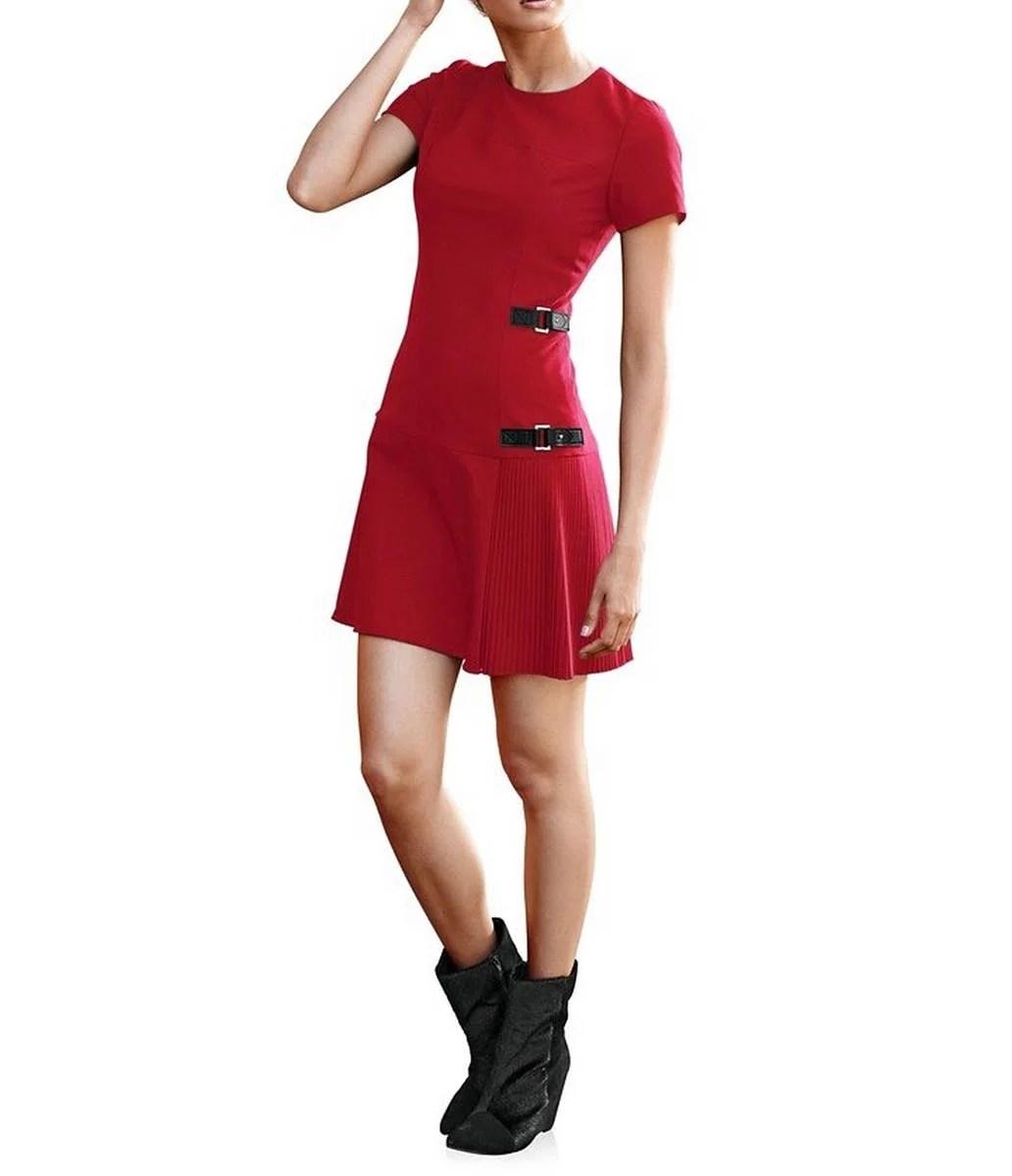 095.367 RICK CARDONA Damen Designer-Etuikleid Rot