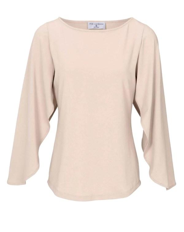 098.246 RICK CARDONA Damen Designer-Jerseyshirt Puder