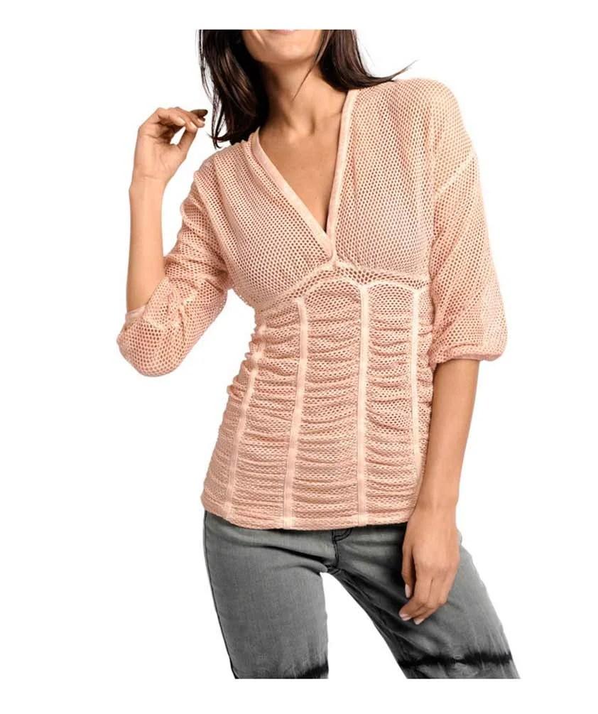 119.805 HEINE Damen Designer-Netzshirt Rose