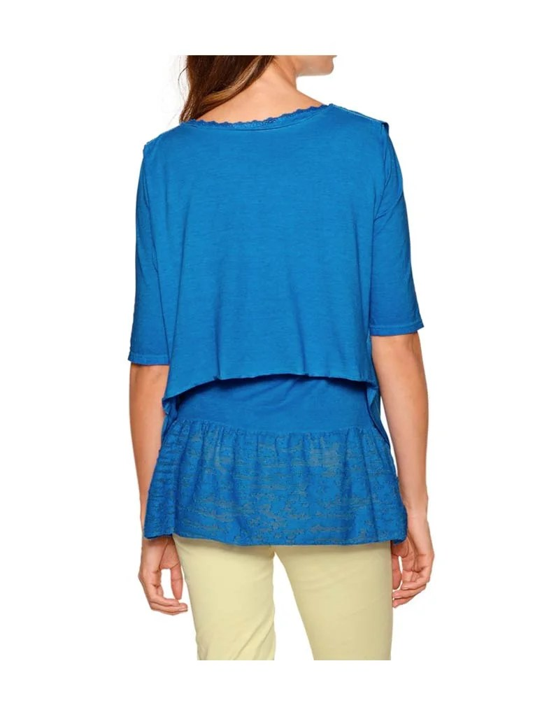122.894 HEINE Damen Designer-2-in-1 Shirt Blau
