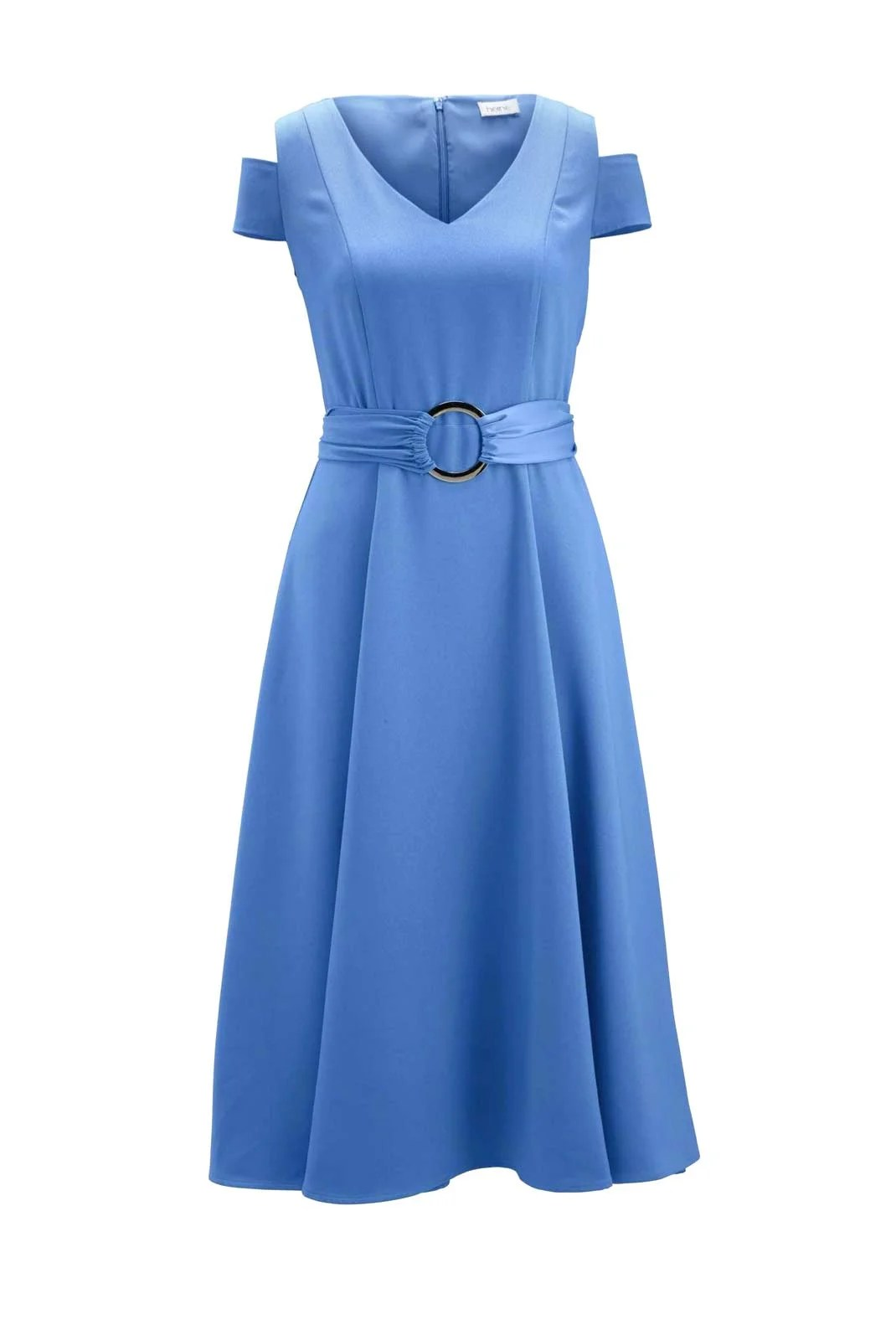 131.040 HEINE Damen Designer-Kleid m. Gürtel Aqua