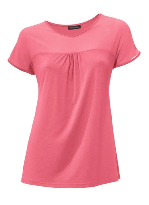 140.798a PATRIZIA DINI Damen Designer-Shirt m. Chiffon Hummer