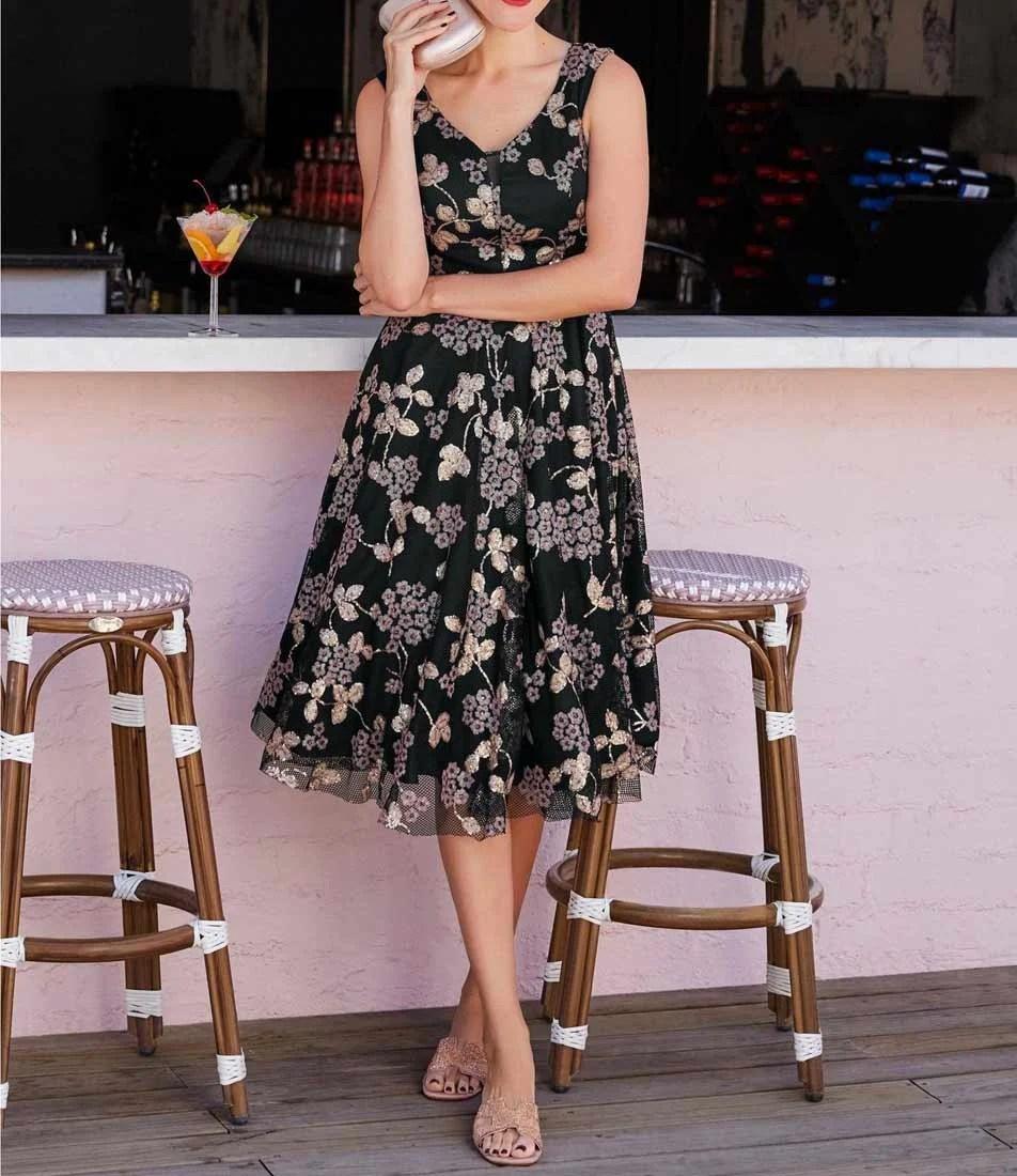 195.024a Heine Cocktailkleid mit Petticoat schwarz