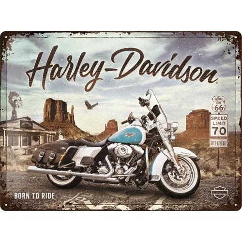 Harley-Davidson - Route 66 Road King Classic Blechschild 30 x 40 cm