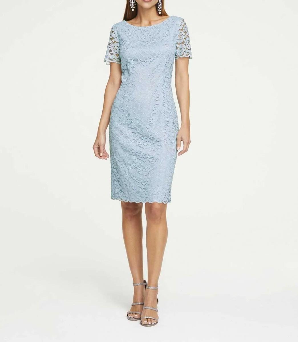 318.683 HEINE Damen Designer-Spitzenkleid Blau