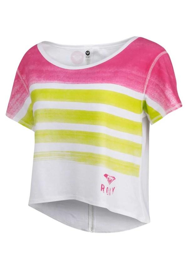 387.260 Shirt, weiß-bunt von ROXY Grösse L