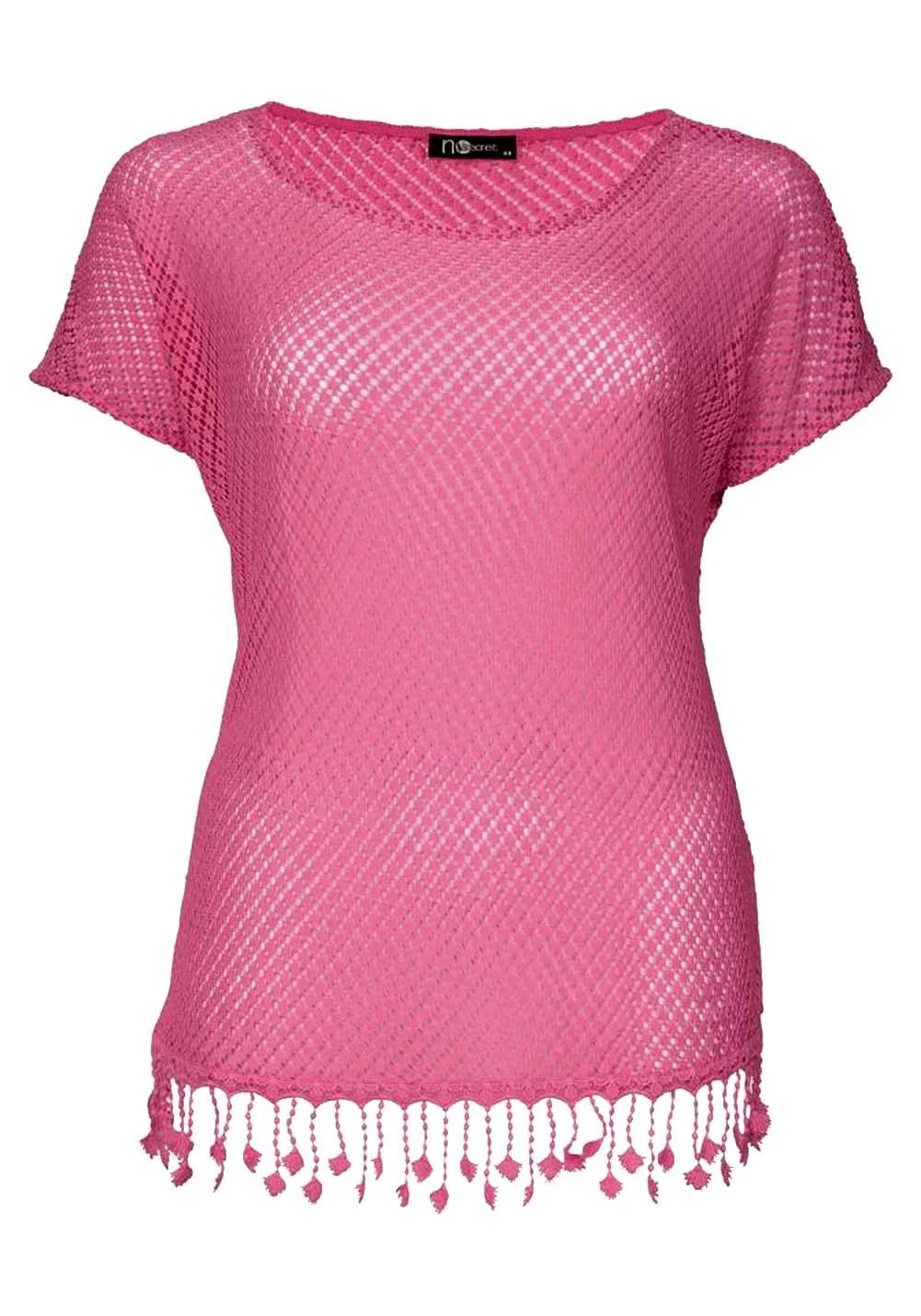 566.246 Plus-Size-Spitzenshirt, pink von No Secret Grösse 44
