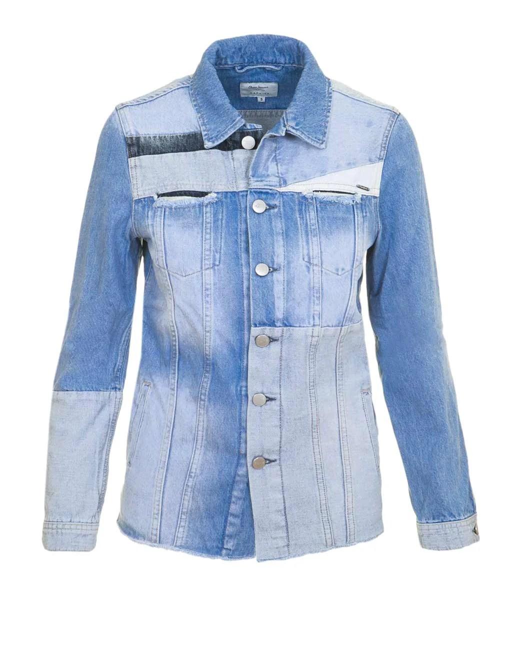 652.180 Pepe Jeans Damen Marken-Jeansjacke, hellblau Denim