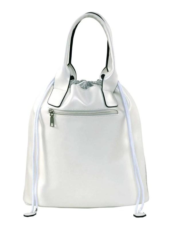 228.600 Tasche, weiß-silberfarben von HEINE Grösse 0