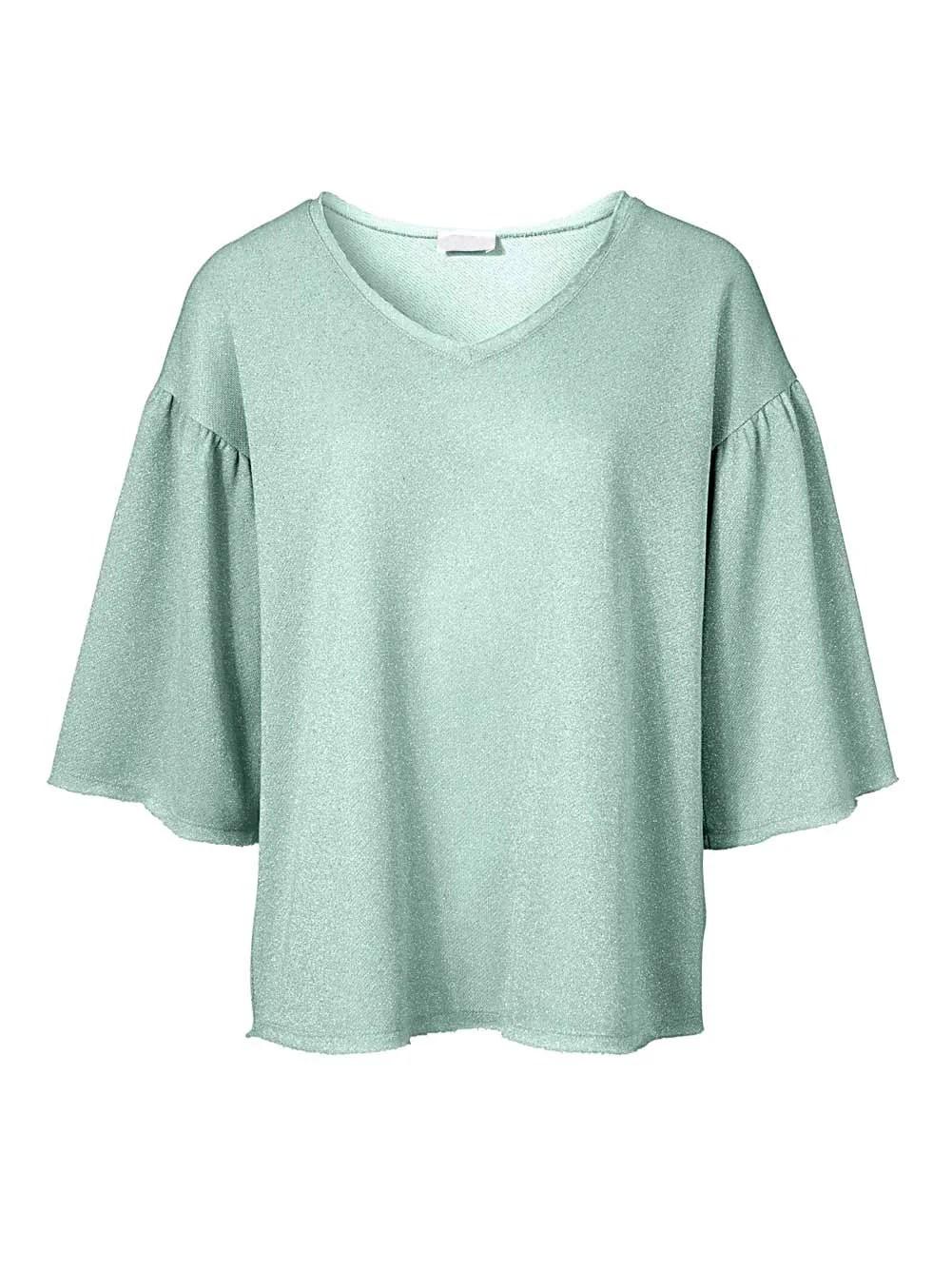 378.391 HEINE Damen Designer-Sweatshirt Salbei-Melange