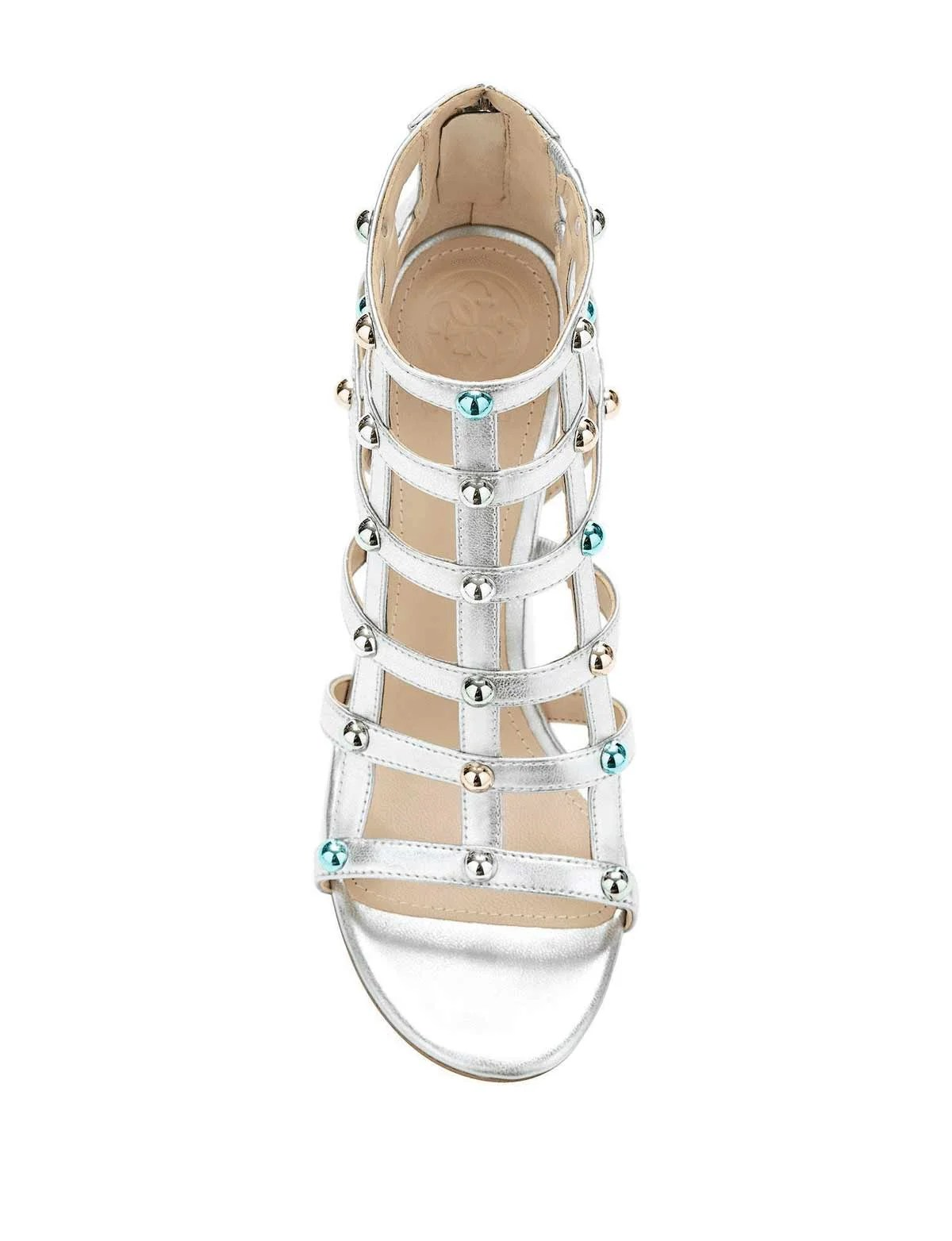 402.378 GUESS Damen Marken-Sandalette m. Nieten Silberfarben