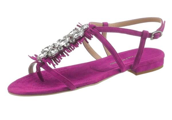 704.872 GUIDO MARIA KRETSCHMER Damen Designer-Velourslederdianette m. Strass Pink