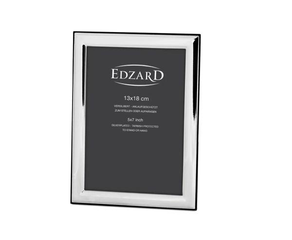 9708 Fotorahmen Bilderrahmen Angers für Foto 13 x 18 cm, Echtsilber Silber Rahmen