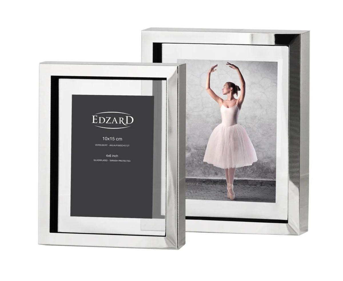 2187 Fotorahmen Bilderrahmen Caserta für Foto 10 x 15 cm, edel versilbert, anlaufgeschützt