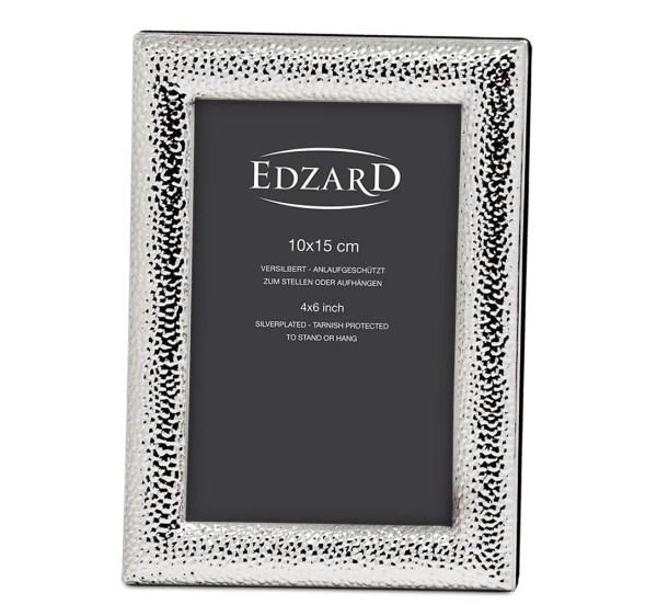 2217 Fotorahmen Marsala für Fotos 10 x 15 cm, edel versilbert, anlaufgeschützt, mit 2 Aufhängern