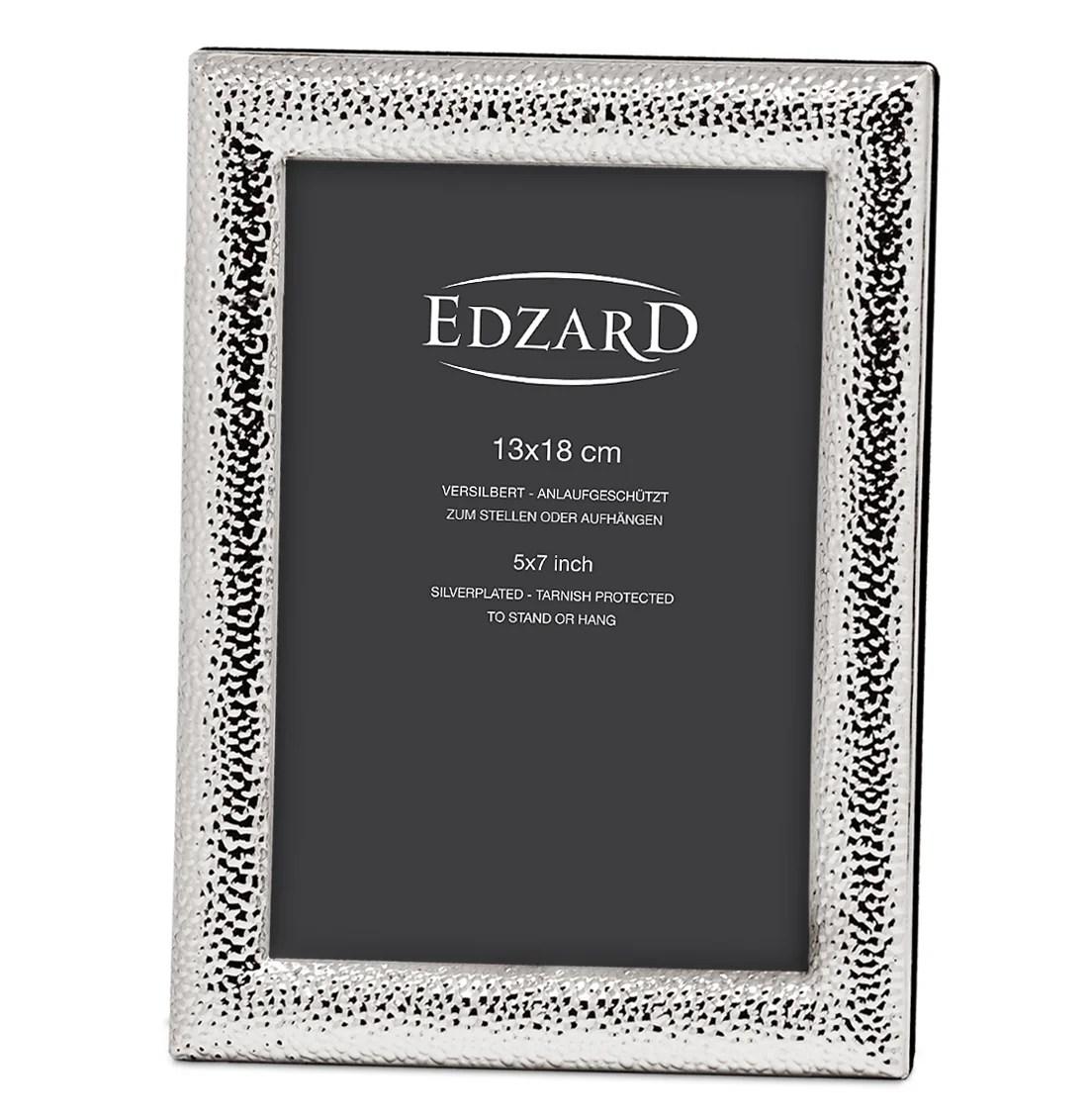 2218 Fotorahmen Marsala für Fotos 13 x 18 cm, edel versilbert, anlaufgeschützt, mit 2 Aufhängern