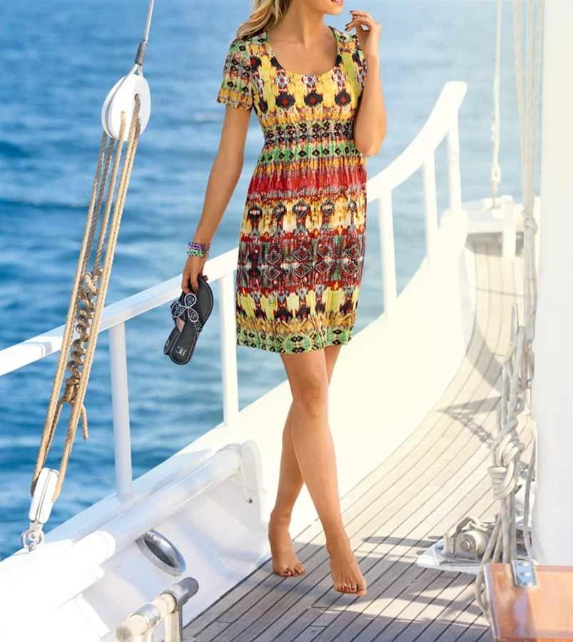 Freizeitkleider für den Strand   065.663 RICK CARDONA Damen Kleid mit Strass Bunt