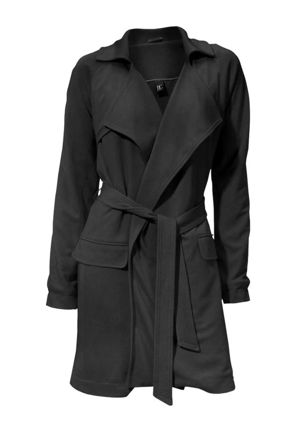Damenmäntel Frühjahr 2021 Schwarzer Mantel Damen Trenchcoat schwarzer Damenmantel elegant Kurzmantel 089.459 Missforty