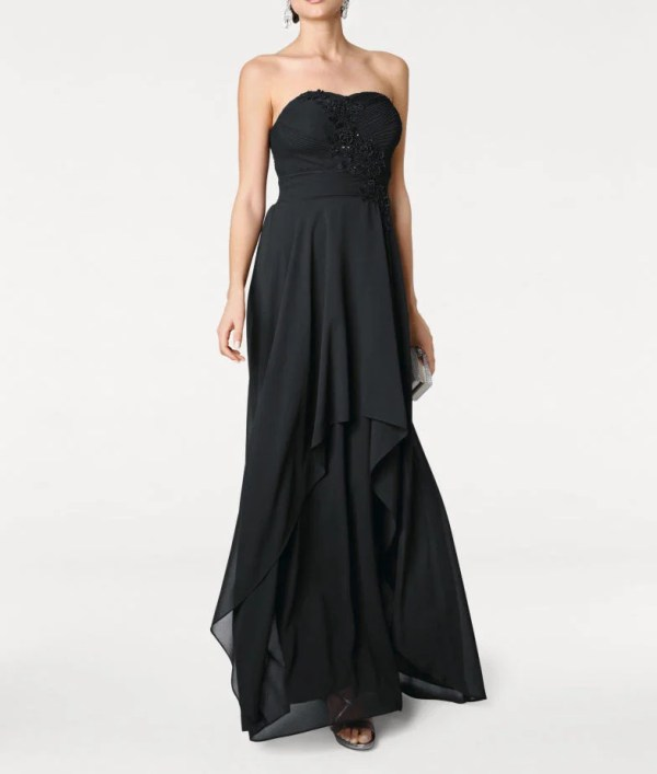 Festmoden ASHLEY BROOKE Damen Designer-Abendkleid Schwarz 132.868 Missforty