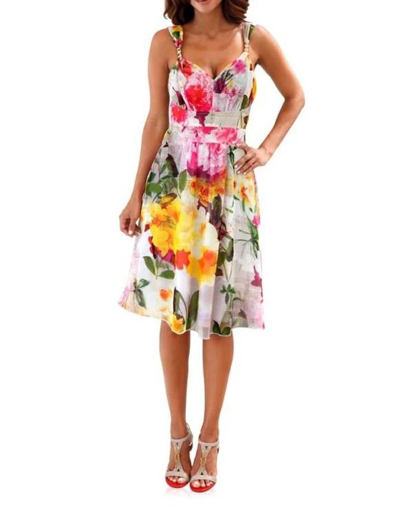 wadenlange kleider für besondere anlässe ASHLEY BROOKE Damen Druckkleid Bunt 178.247 missforty