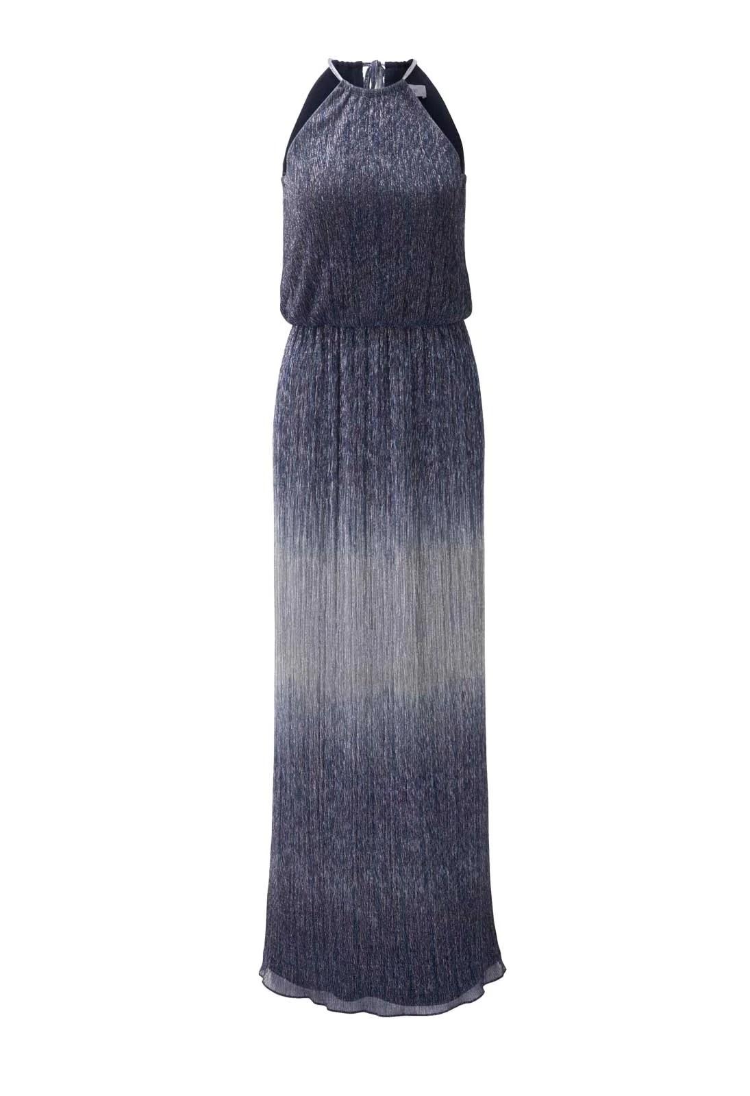 Festmoden HEINE Damen Designer-Abendkleid Blau 252.099a Missforty
