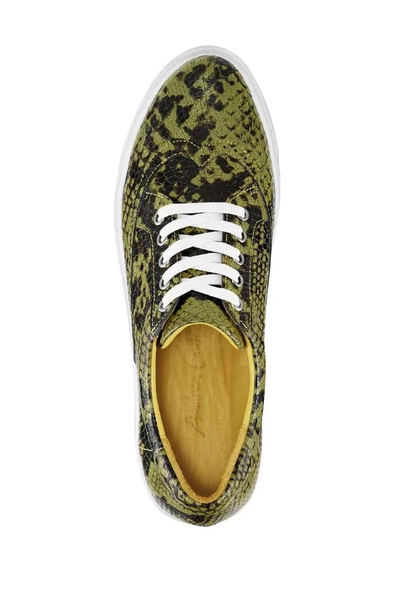bequeme Schuhe Andrea Conti Leder-Sneaker, gelb-schwarz 271.229 Missforty.