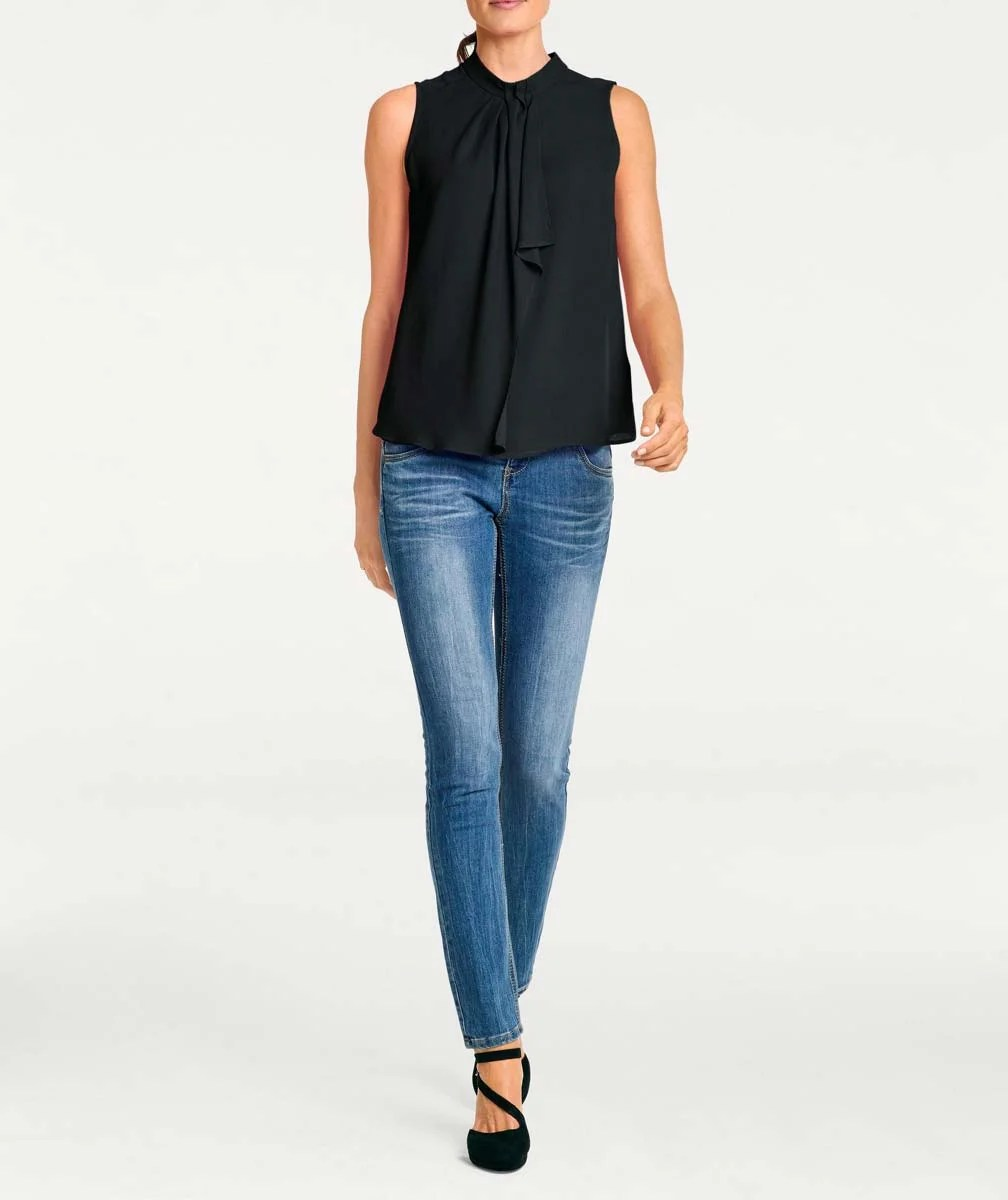 T Shirts ohne Ärmel320.003 Blusentop, schwarz