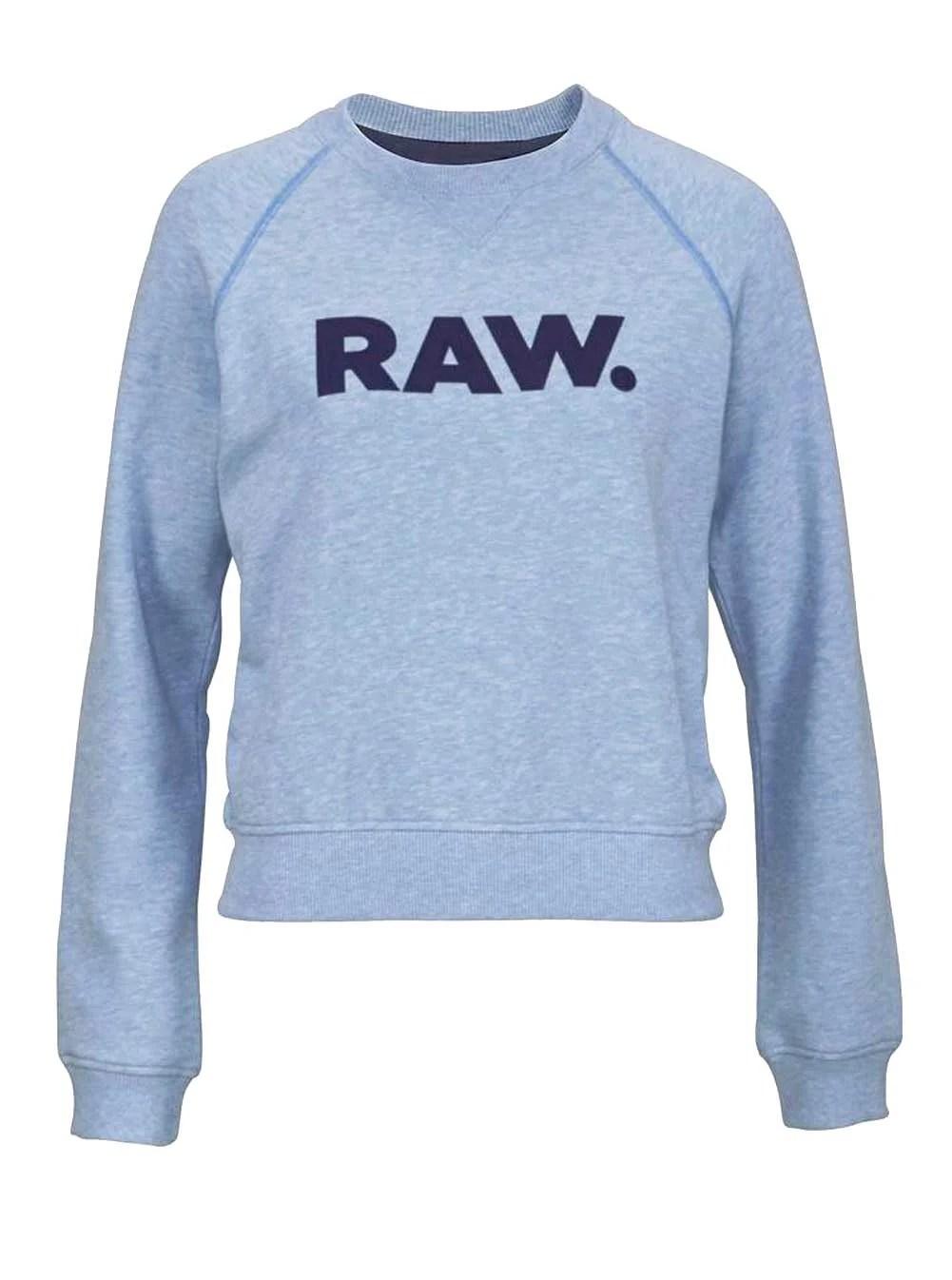 t shirts ohne ärmel G-STAR RAW Damen-Sweatshirt Blau-Melange 342.565 Missforty