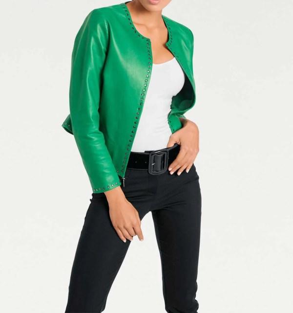 jacken auf rechnung bestellen als neukunde Ashley Brooke Damen Lederjacke Echt Leder 401.757 MISSFORTY