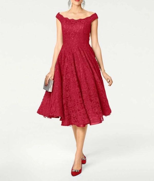 kurzes kleid für besondere anlässe Heine Cocktailkleid mit Petticoat rot 406.024 Missforty