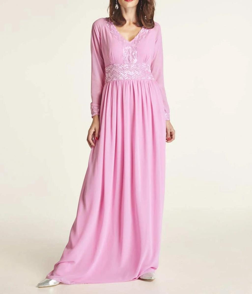 Festmoden HEINE Damen Designer-Abendkleid m. Pailletten Pink 516.059 Missforty