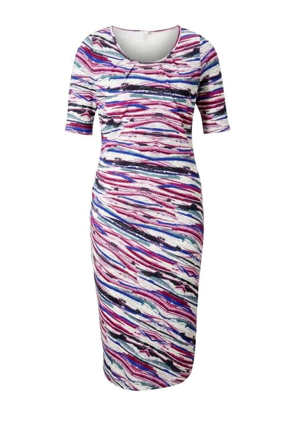 wadenlange kleider für besondere anlässe Heine Jerseykleid bunt 956.090 missforty