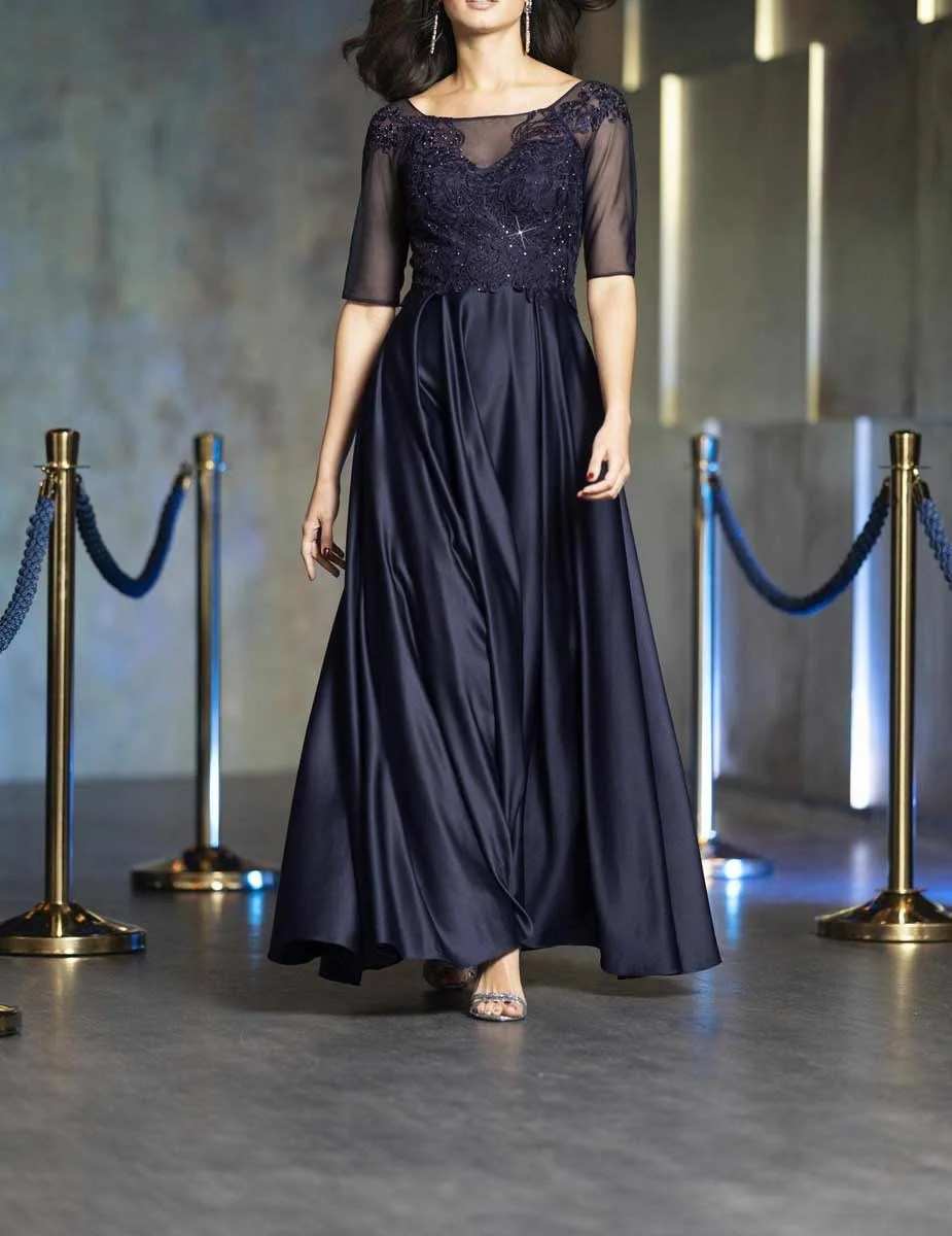983.262 Abendkleid m. Petticoat, marine von PATRIZIA DINI Grösse 38