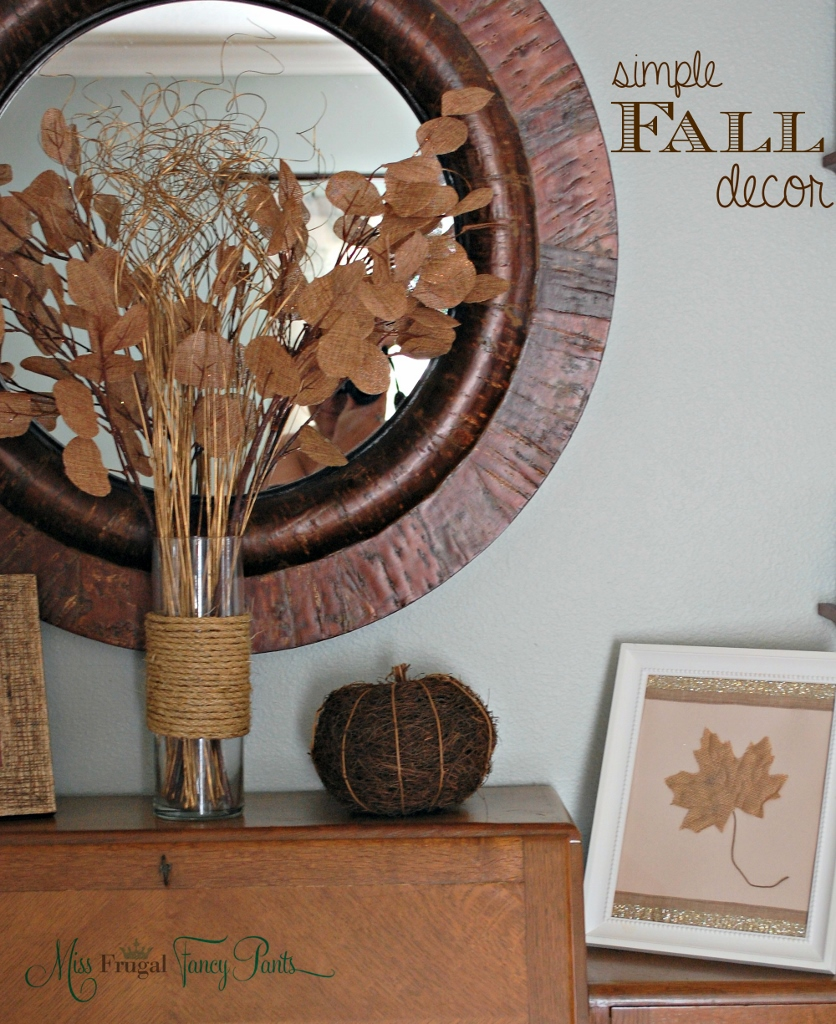 A Few More Simple Thanksgiving Decor Ideas