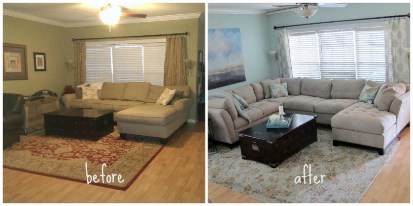Mostly Coastal Budget Living Room | missfrugalfancypants.com