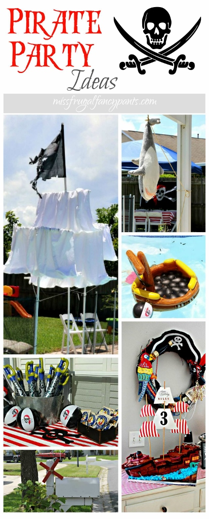 Outdoor Pirate Party Ideas | missfrugalfancypants.com