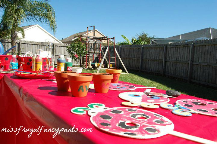 Outdoor Ladybug Garden Party Activities| missfrugalfancypants.com